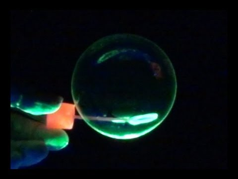 how to make colored glowing bubbles youtube