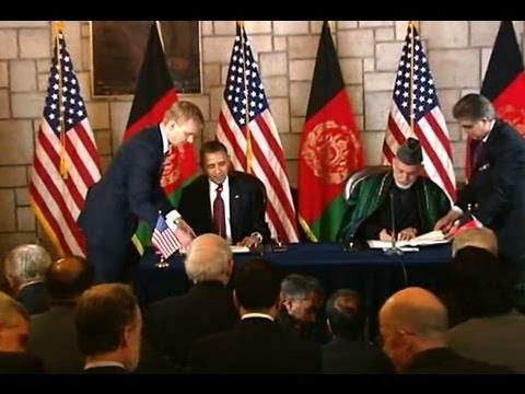 President Obama and President Karzai Sign the Strategic Partnership Agreement