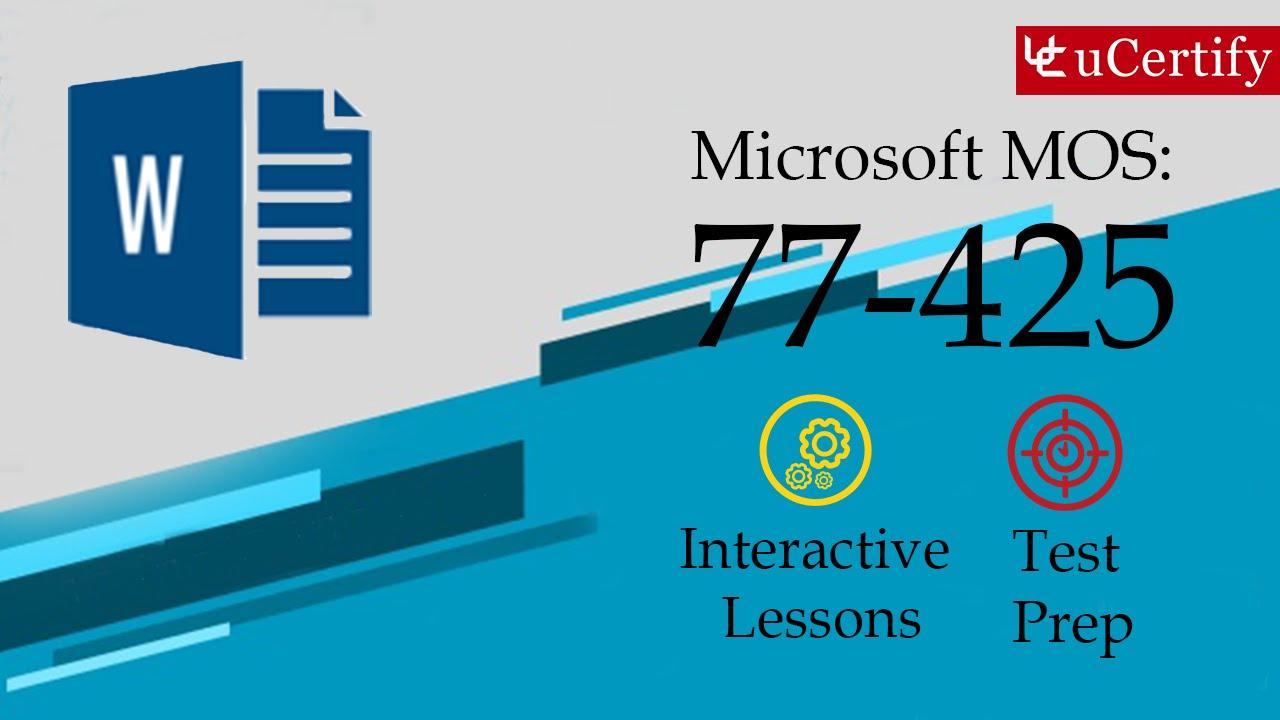 Microsoft Mos Expert 77 425 Youtube