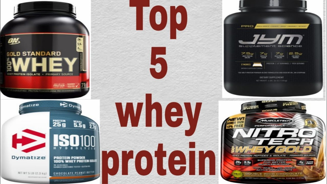 Top 5 whey protein powder for muscle building & fat loss 2019!!..for winters - YouTube