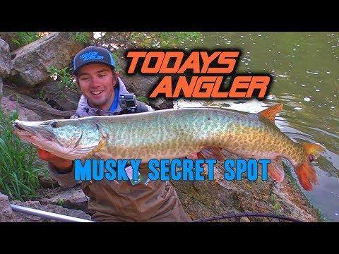 Musky Secret Spot - Post Spawn River Fishing - Todays Angler