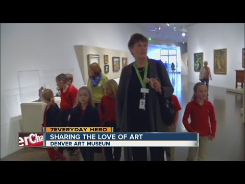 Denver Art Museum volunteer shares her love of museums with tour groups
