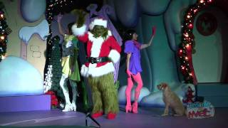 You're a Mean One Mr. Grinch performed during Grinchmas at Universal Orlando
