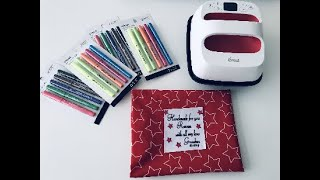 CRICUT INFUSIBLE INK PENS with FABRIC...HOW TO
