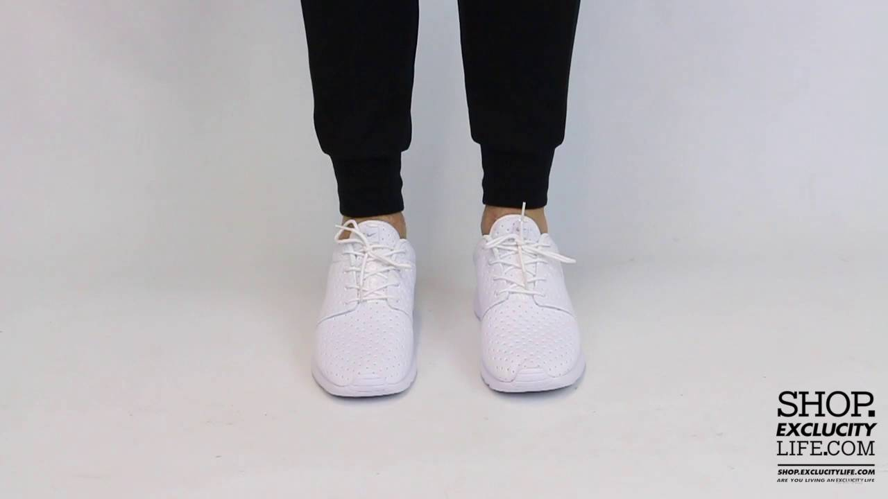 Nike Roshe One SE Triple White On feet Video at Exclucity