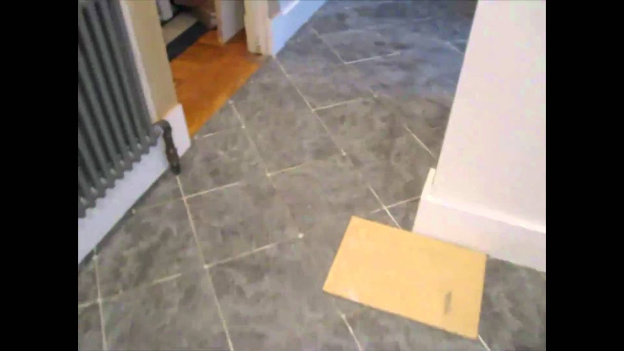 Ceramic Tile Diagonal Kitchen Floor