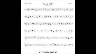 Dulce Navidad Partitura de Flauta Trompeta Sax Clarinete Violín Tenor Soprano Trombón Jingle Bells