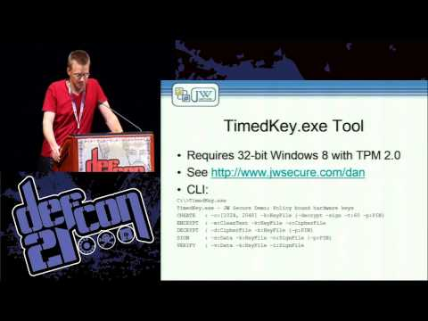 Defcon 21 - Protecting Data with Short-Lived Encryption Keys and Hardware Root of Trust