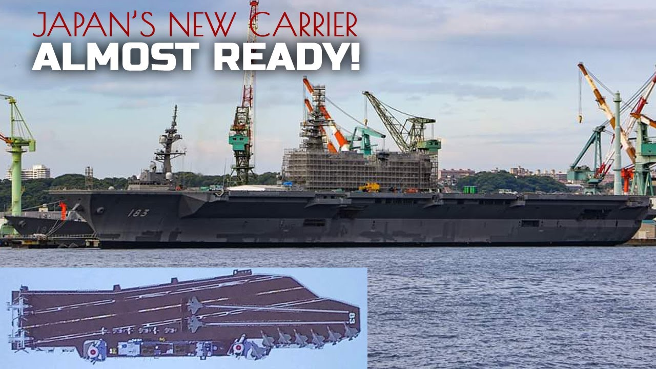 Japan's First Aircraft Carrier in 75 years is Almost Ready to Deploy