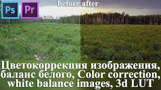 Корекція кольору зображення, баланс білого, Color correction, white balance images, 3d LUT