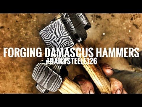 FORGING DAMASCUS HAMMERS