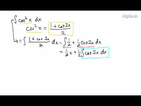 Integral of (cos(x))^2