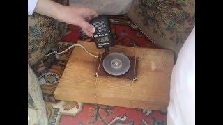 Попытка выйти на самораскрутку диска и подъёмную силу