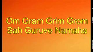 Jupiter/Guru planetary mantra - Om Gram Grim Grom Sah Guruve Namaha - 108x