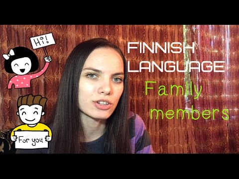 ✿ Finnish Language- Family members(lesson8)✿