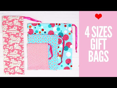 DIY Gift Bags, How to make gift bags in 4 SIZES fast & easy