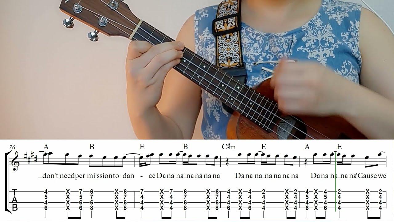 Permission to Dance -BTS ukulele play along