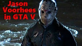 Jason in GTA 5 - Friday the 13th Easter Egg / Freestyle Challenge