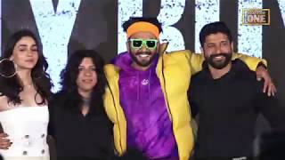 Ranveer Singh & Alia Bhatt At Trailer Launch Of Film Gully Boy | Trailer launch | Bollywood One