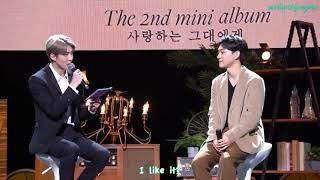 [ENG SUB] 191001 'Dear my dear' Listening Session - CHEN & MC SEHUN