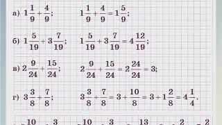 Математика 5 класс 25 Сложение и вычитание смешанных чисел