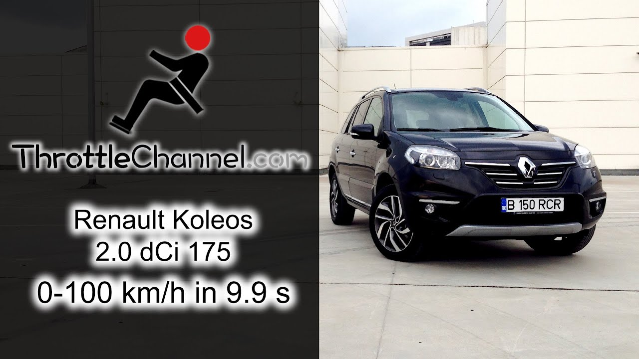 renault koleos 2 0 dci 175 acceleration youtube. Black Bedroom Furniture Sets. Home Design Ideas