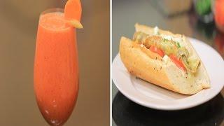 ساندوتش اومليت بالسماق - عصير جزر بالتفاح   سندوتش وحاجة ساقعة حلقة كاملة