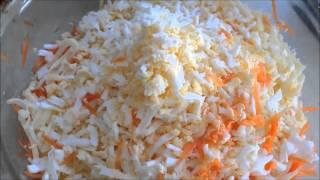 Кулинарный рецепт сырный салат с сыром и яицом