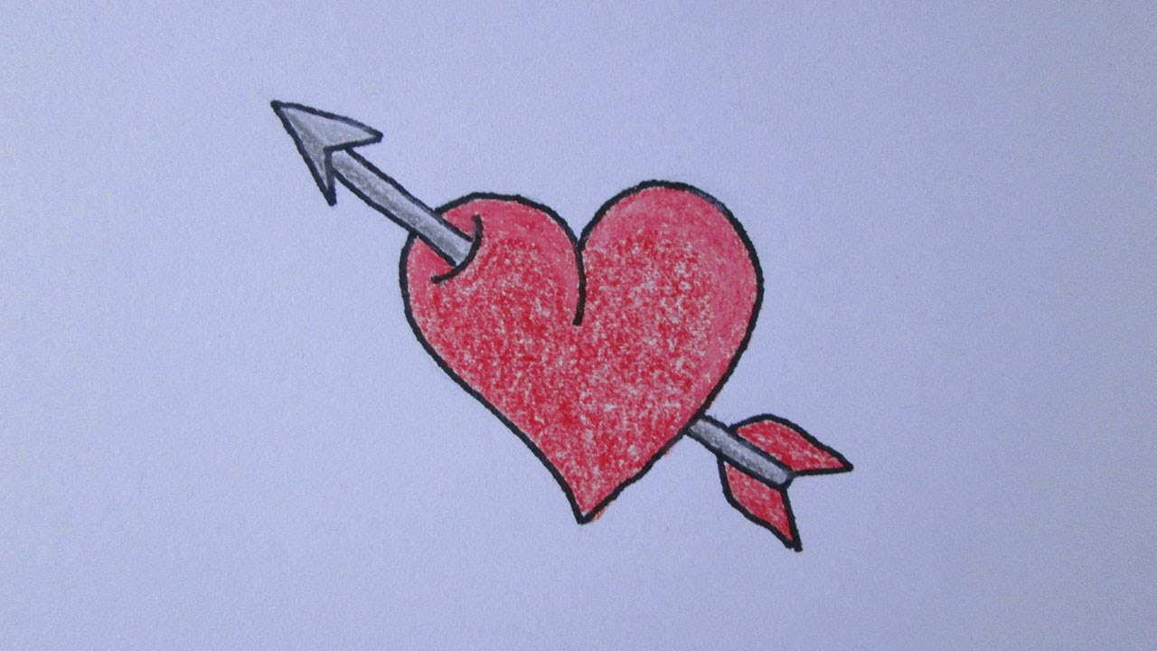 How To Draw A Heart With Arrow