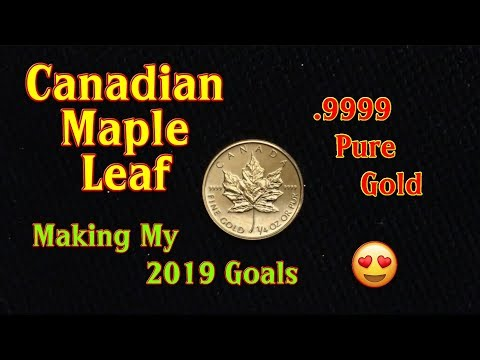 $10 Gold Canadian Maple Leaf...a 1/4 Ounce of Pure .9999 Gold Bullion 😍