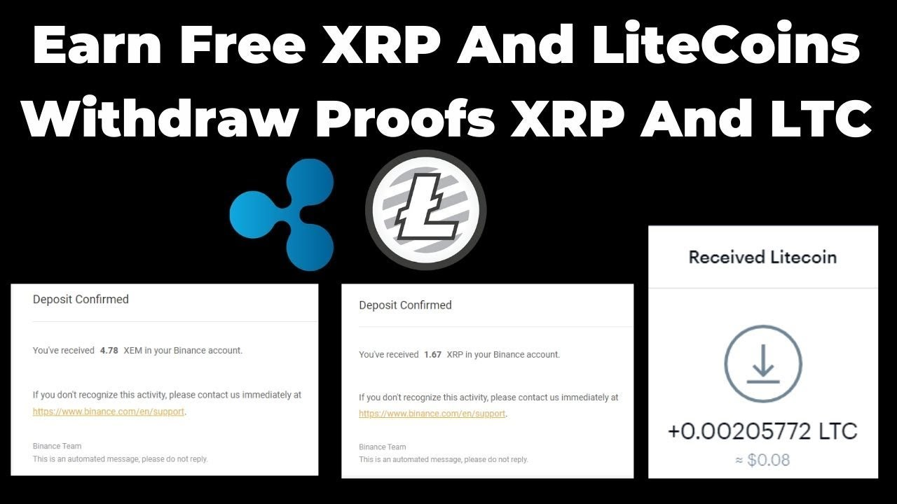 Earn XRP And LiteCoins LTC | Withdraw Proofs XRP And LTC | Legit Earning Sites | - YouTube