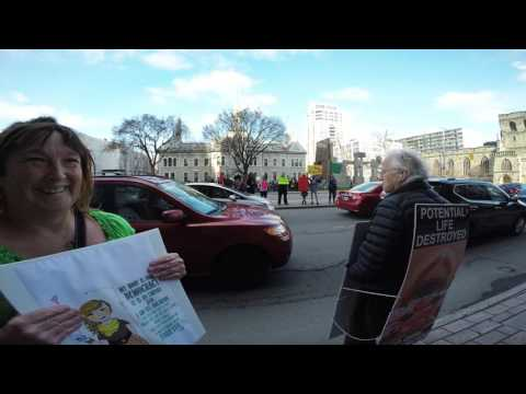 Anti abortion protest on Elgin street Wed  April 26, 2017