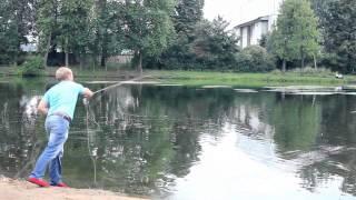 Открытый урок нахлыста на Петровском пруду 01.08.2013