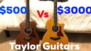 $3,000 Taylor Guitar vs $500 Taylor Guitar | Matt McCoy