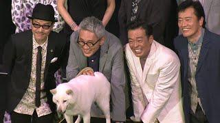 田口トモロヲ、松重豊、光石研、遠藤憲一らが出演する映画「バイプレイヤーズ~もしも100人の名脇役が映画を作ったら~」が公開初日を迎え、舞台あいさつが行われた。