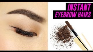 INSTANT EYEBROW HAIRS IN A BOTTLE!  | TINA TRIES IT