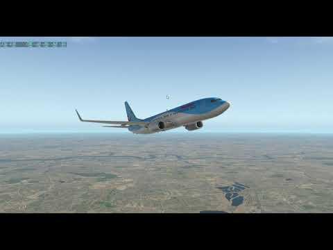 X-Plane 11 B737-800 Zibo Mod Lnav/Vnav EGLC to EGCN