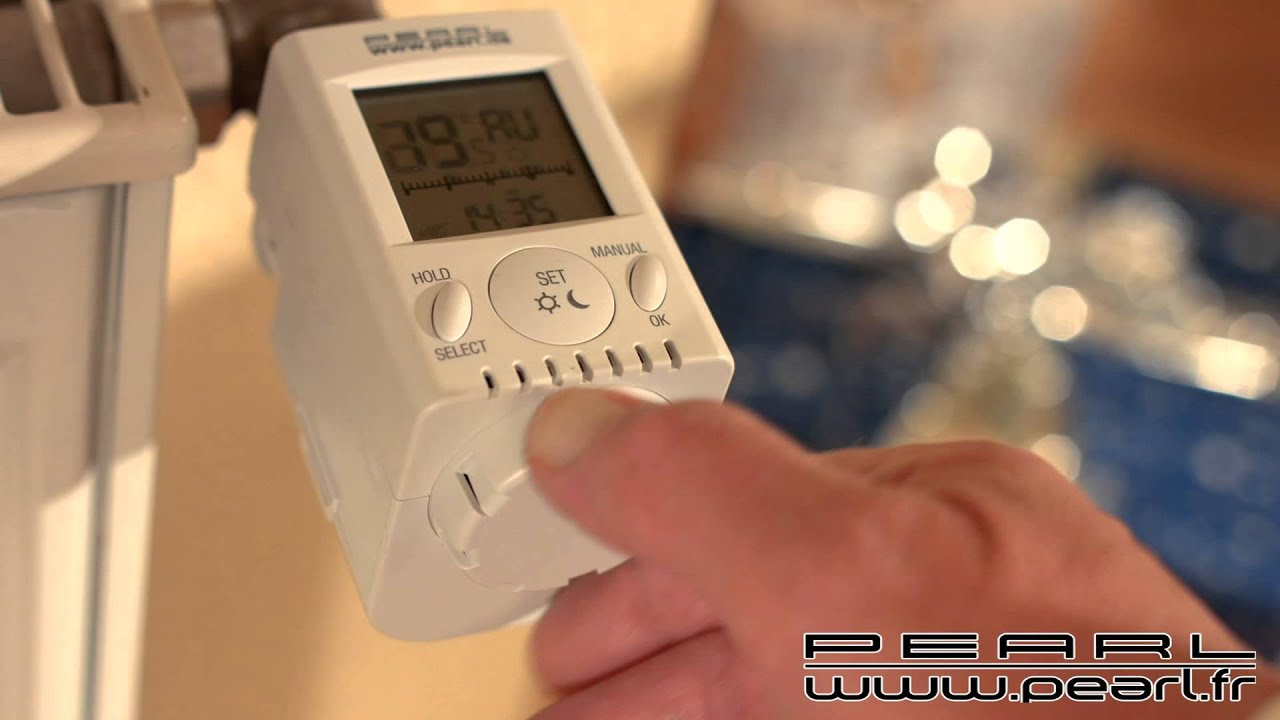 nx5050 thermostat lectronique pour radiateur youtube. Black Bedroom Furniture Sets. Home Design Ideas