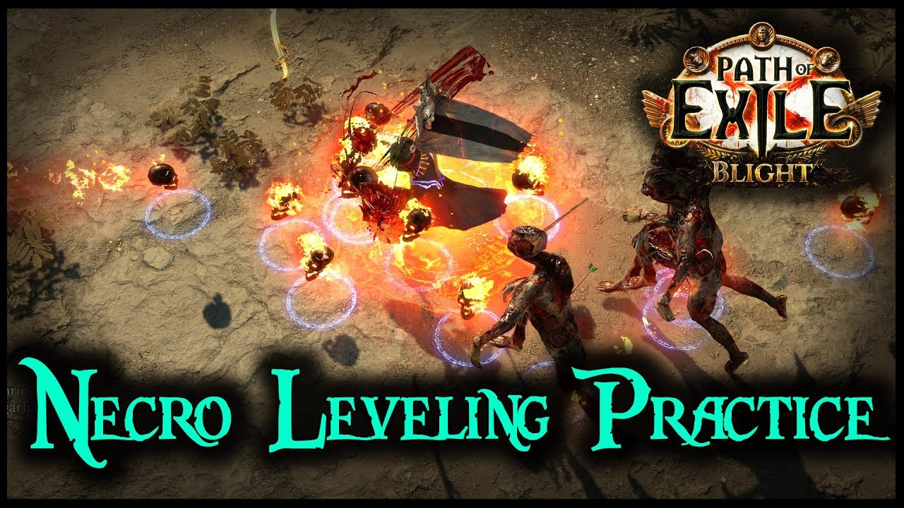 POE SSF Necro Leveling Practice For Blight League | Behind Eyes Gaming