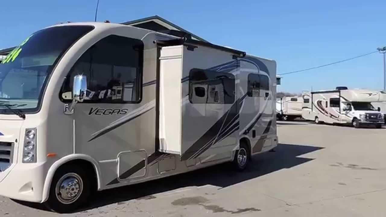 New 25' 2015 Thor Vegas 24 1 RUV 1-Slide Ford V10 Rear King Bed Sleeps 4-6