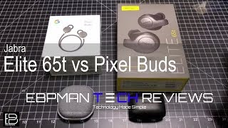 Jabra Elite 65t vs Google Pixel Buds | Comparison with Outdoor Call Quality Demo