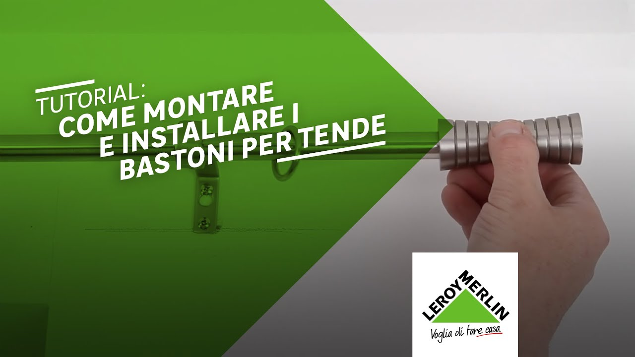 Binari Per Tende A Soffitto : Come montare i bastoni per le tende tutorial leroy merlin youtube