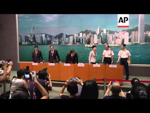 News conference by Chief Executive Leung Chun-ying