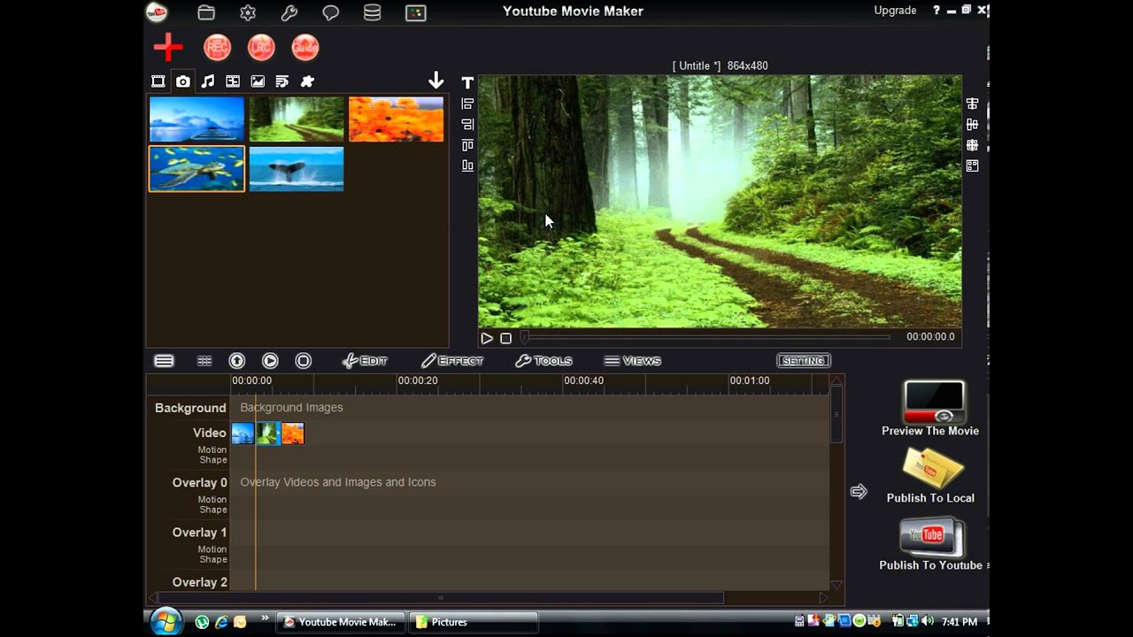 Youtube Movie Maker Convert Pictures To Video Youtube