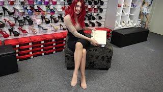 Revisión Walking Pleaser Cream y zapatos negros de tacón alto con puntera puntiaguda de 5 pulgadas