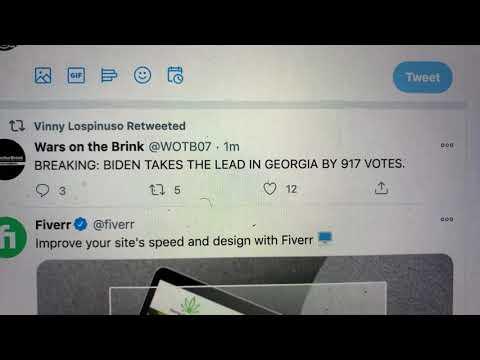 Biden Takes The Lead In Georgia By 917 Votes vs Donald Trump In 2020 Presidential Election