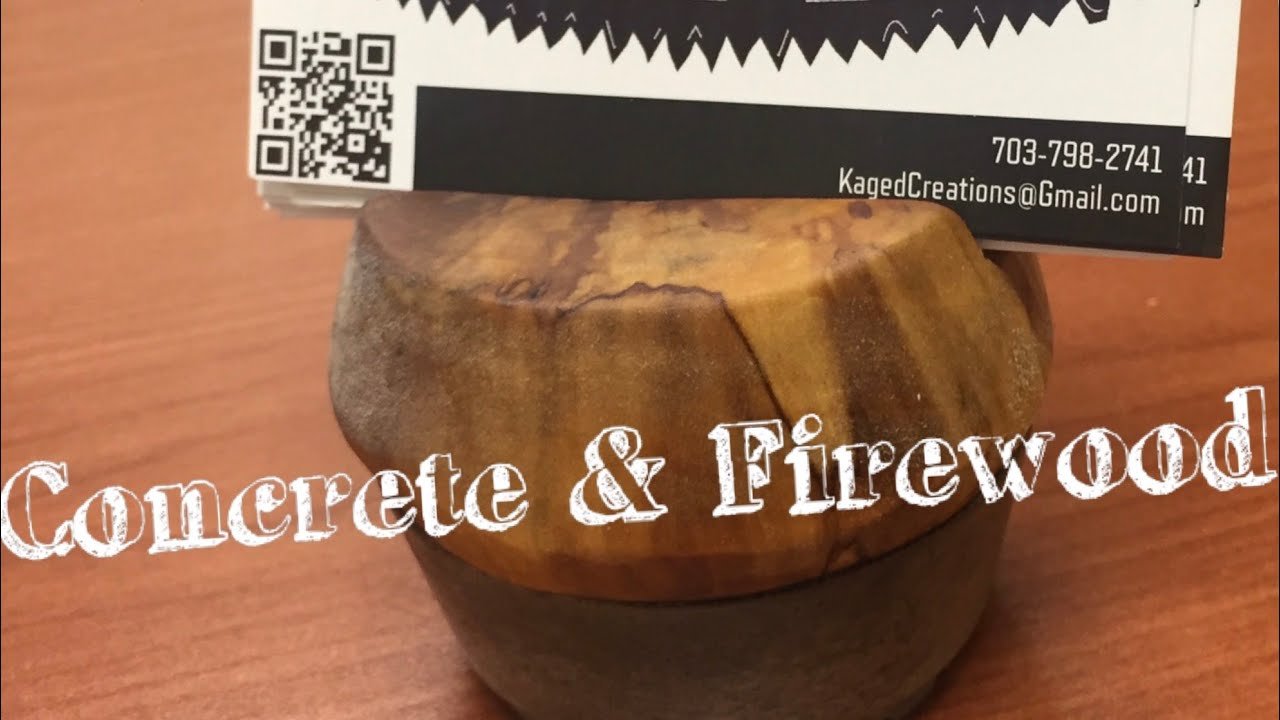 Concrete & Firewood Business Card Holder - YouTube