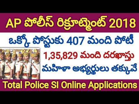 AP Police SI Recruitment 2018 Latest Updates | APSLPRB SI Notification | Total Online Applications