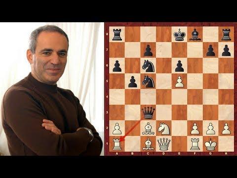Amazing Chess Game : Garry Kasparov vs Vishy Anand - PCA WCh (1995) - Game 10 - Brilliancy!