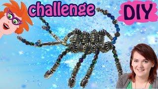 Schorpioen van kralen - Pas op hij knijpt! - Alfabet knutsel challenge met Craftmama!